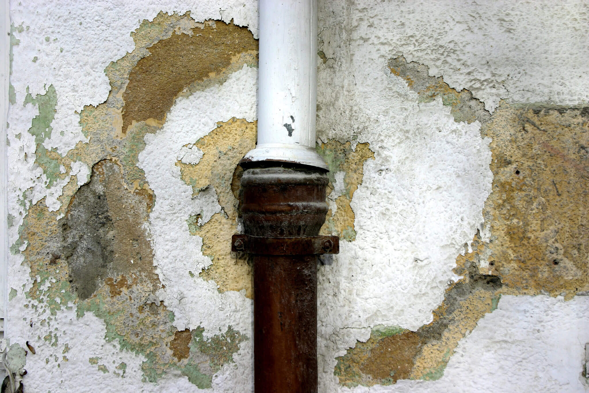 water damage from a broken pipe